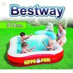 Piscina Bestway - 316 Ltrs. Infantil Hipopotamo - Inflable - 53050