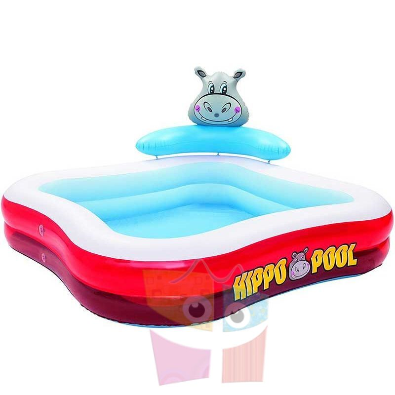 Piscina bestway 316 ltrs infantil hipopotamo inflable for Piscina inflable bestway