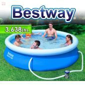 Piscina Bestway - 3.638 Ltrs. - Redonda - Con borde inflable - 57270