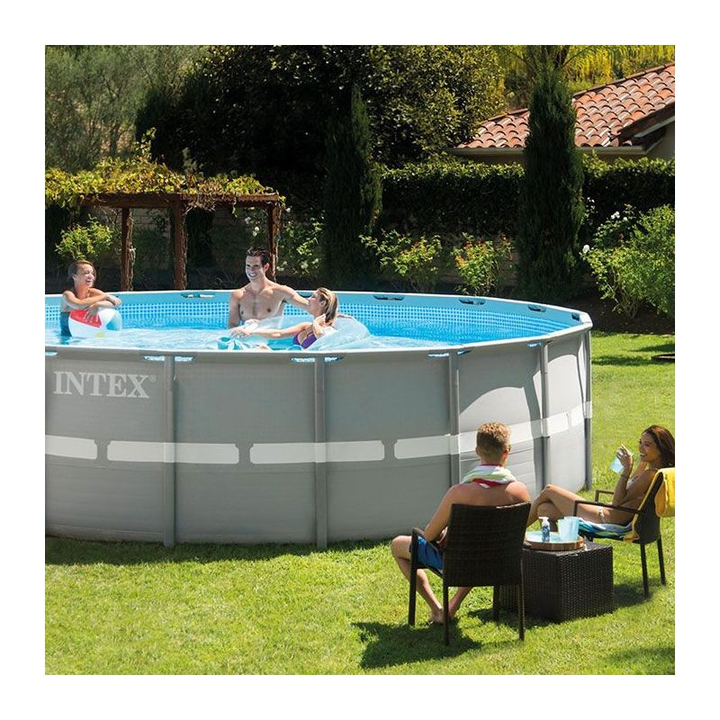 Piscina intex ltrs redonda estructura for Piscina redonda grande