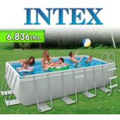 Piscina Intex - 6.836 Ltrs. - Rectangular - Estructura Metálica - 28350