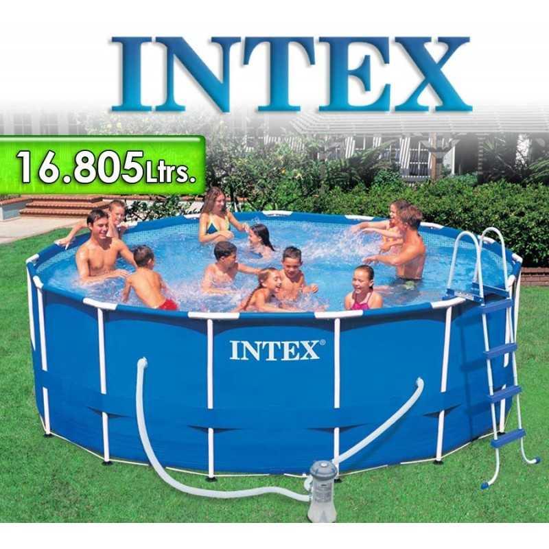 Piscina Intex - 16.805 Ltrs. - Redonda - Estructura Metálica - 28236