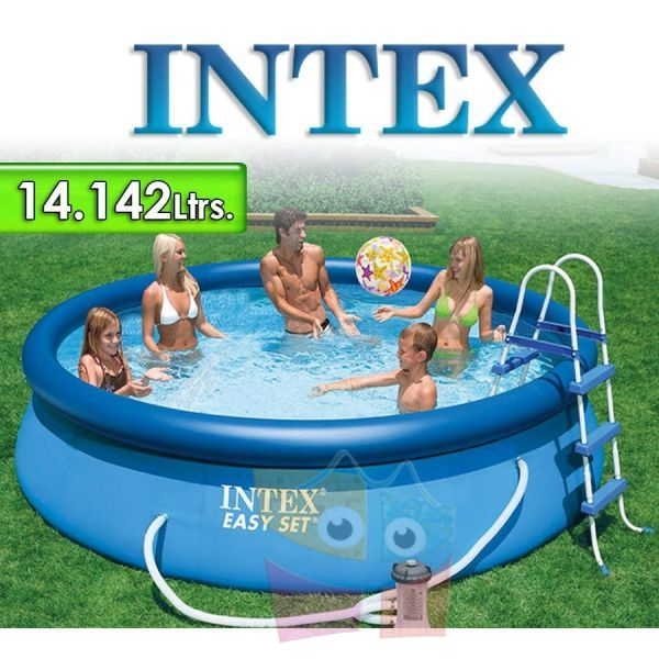 Piscina Intex - 14.142 Ltrs. - Redonda - Con borde inflable - 28168