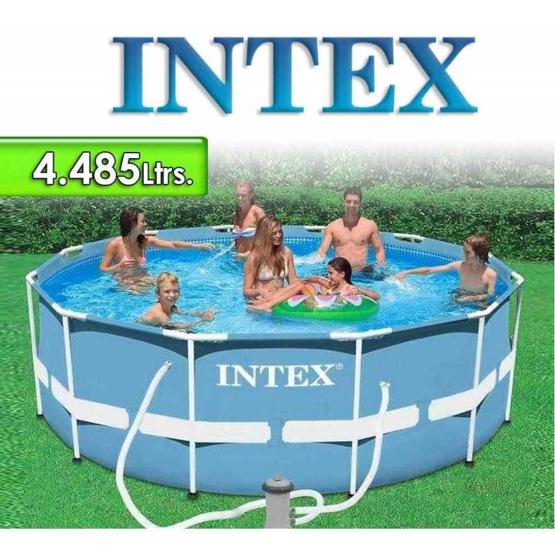 Piscina Intex - 4.485 Ltrs. - Redonda - Estructura Metálica - 28702