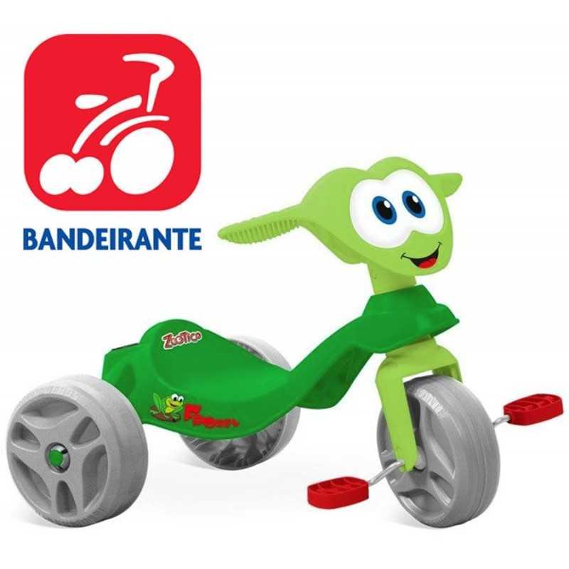 Triciclo Zootico Froggy Verde - Bandeirante - 744