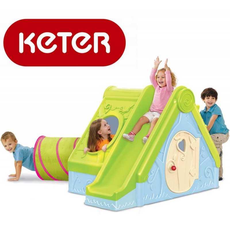 Casita con Tobogan y Tunel Funtivity - Keter - 17192000