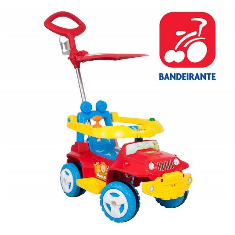 Autito Jeep Paseo y Andador Rojo con Techito - Bandeirante - 1057