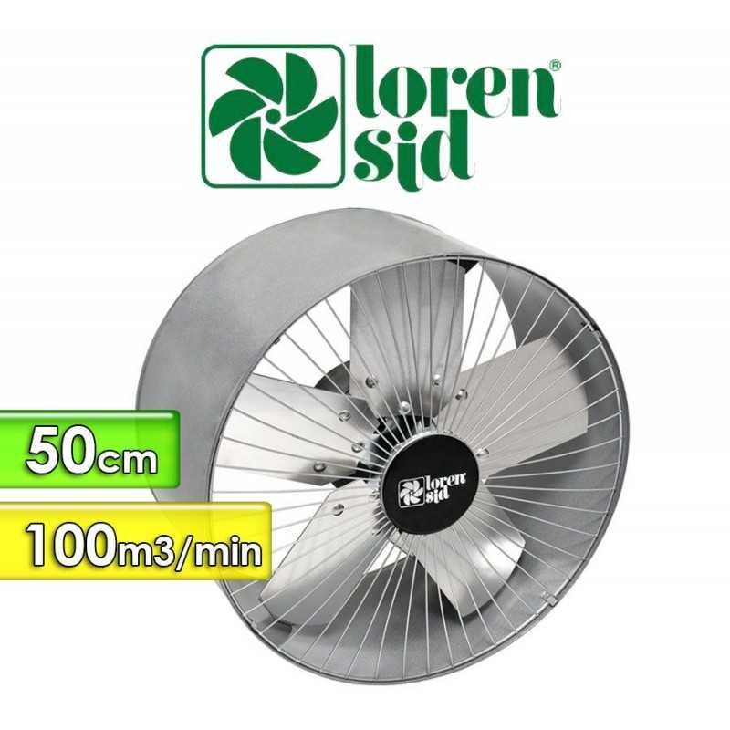 Extractor de Aire - 50 Cms. - Loren Sid - Flujo 100 m3/min.