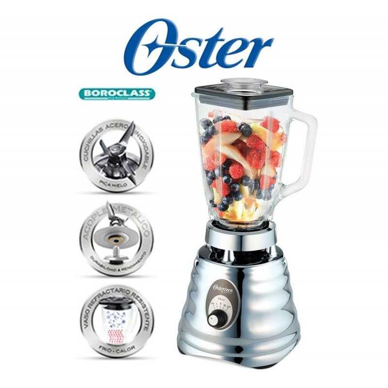 Licuadora clásica de 3 velocidades Plateada - Oster - 004655-053-000