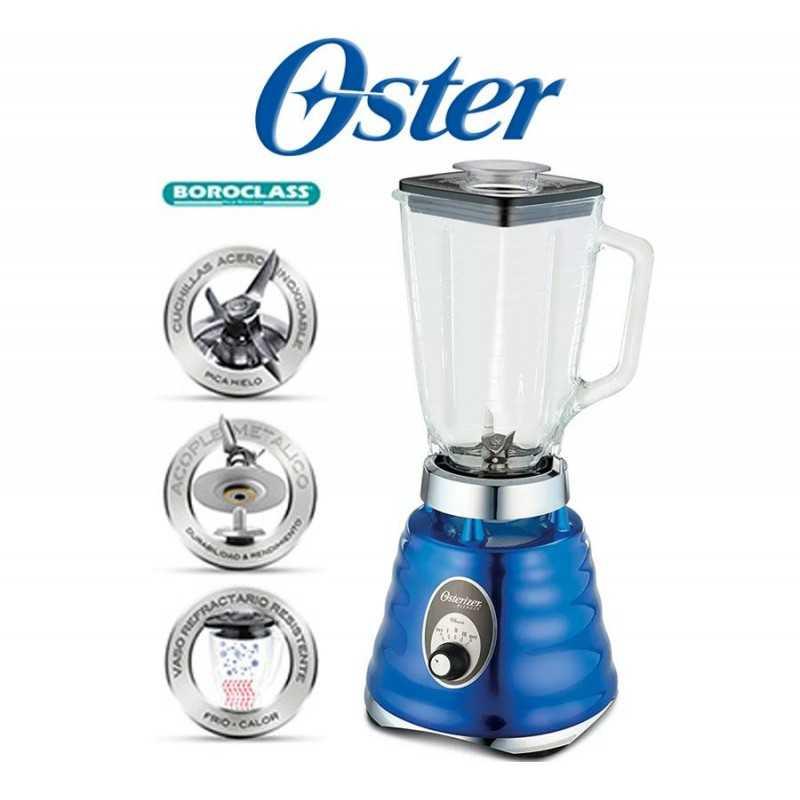Licuadora clásica de 3 velocidades Azul Cromada - Oster - 004134-053-000