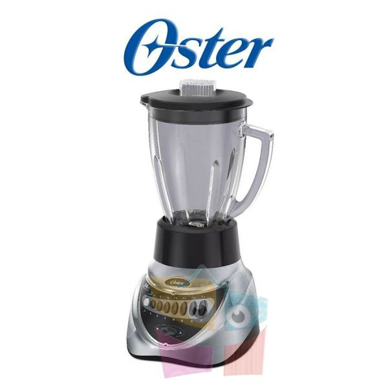 Licuadora  14 velocidades plateada con vaso de vidrio refactario - Oster - BLSTEG7826C-053