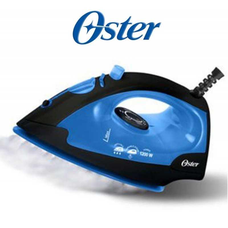 Plancha a vapor con base antiadherente plateada y temperatura variable Azul - Oster - GCSTBS4801L-053