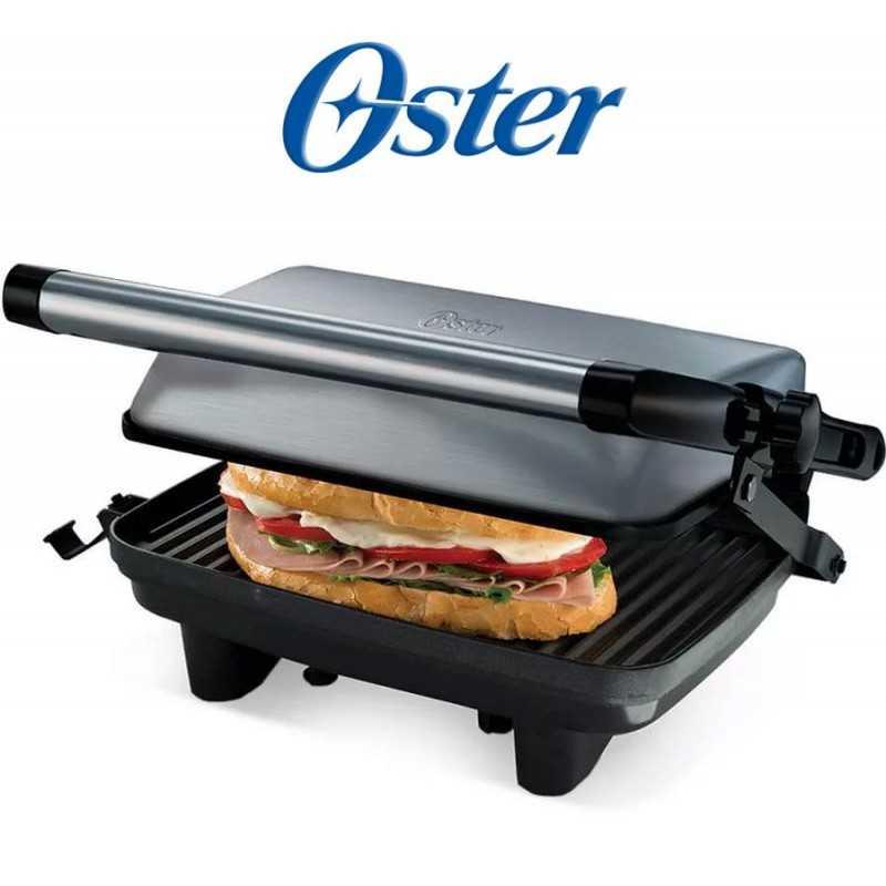 Sandwichera grill de altura ajustable con planchas antiadherentes - Oster - CKSTPA2880-053