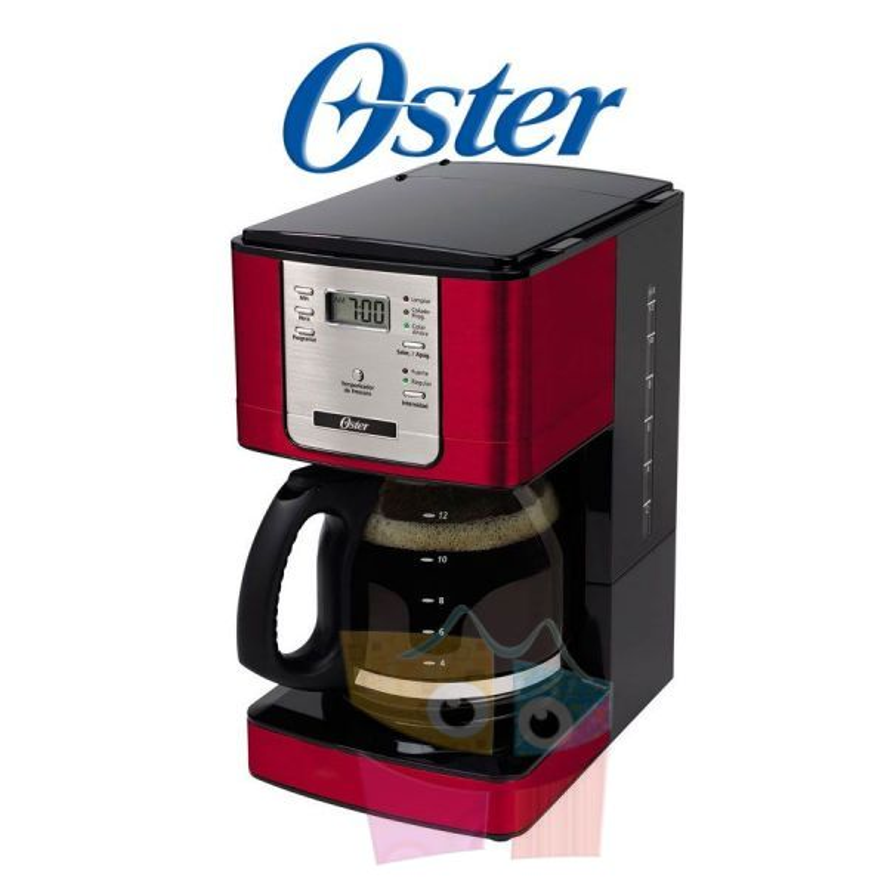 Cafetera térmica Roja programable de 12 tazas  - Oster - BVSTDC4401RD-057