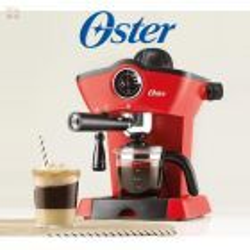 Cafetera de vapor para espresso y capuccino Roja - Oster - BVSTEM4188-053