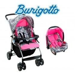 Carrito de bebé Rio K Grafito Rosa + Baby Seat Touring Evolution - Burigotto - IXCJ4016PR41