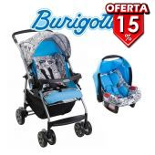 Carrito de bebé Rio K Cartoon Celeste + Baby Seat Touring Evolution - Burigotto - IXCJ4016PR48