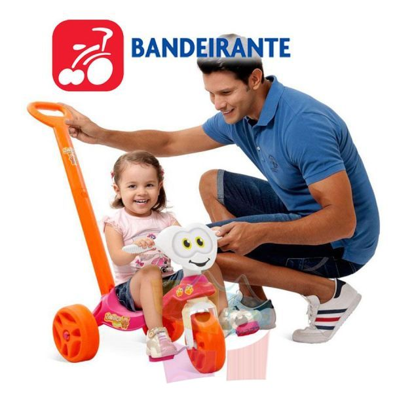Triciclo Zootico Paseo Rosa - Bandeirante - 785