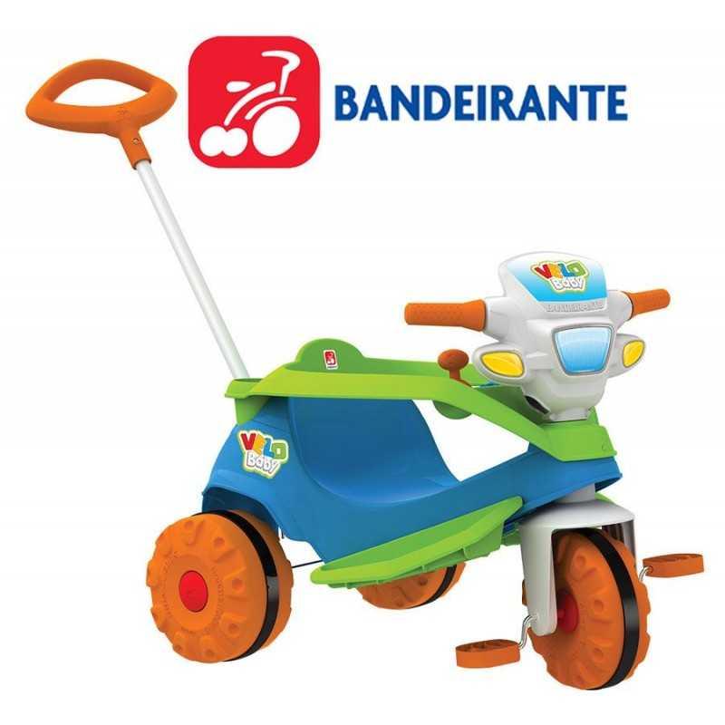 Triciclo Velobaby Paseo con Pedal Azul - Bandeirante - 206