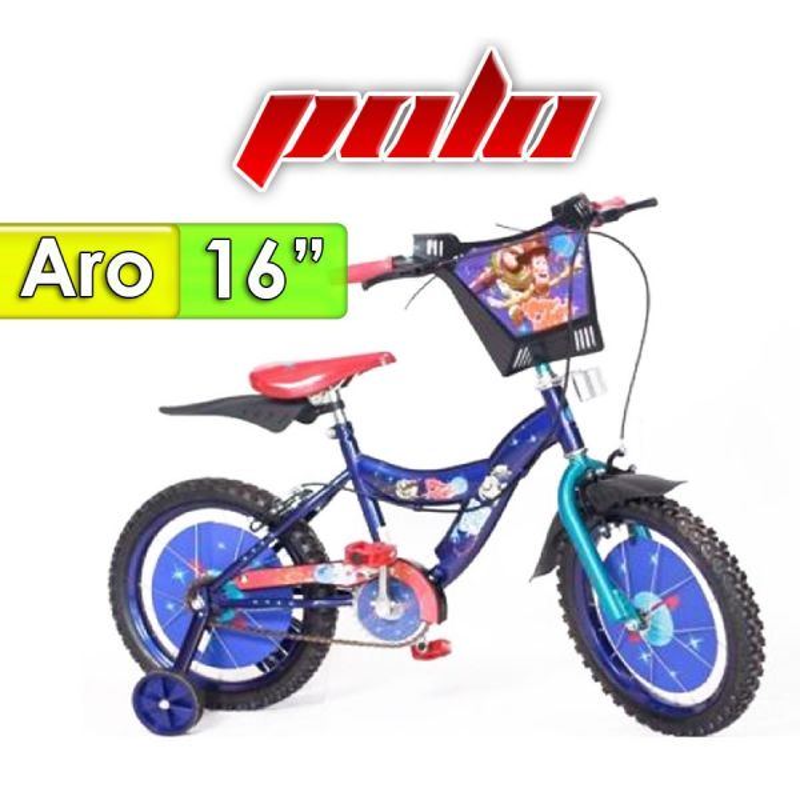 "Bici Aro 16"" diseño Toy Story - Polo - Azul"