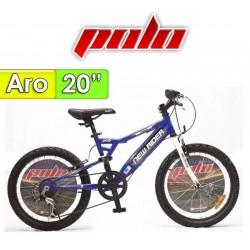 """Bici Aro 20"""" New Rider - Polo - Azul"""