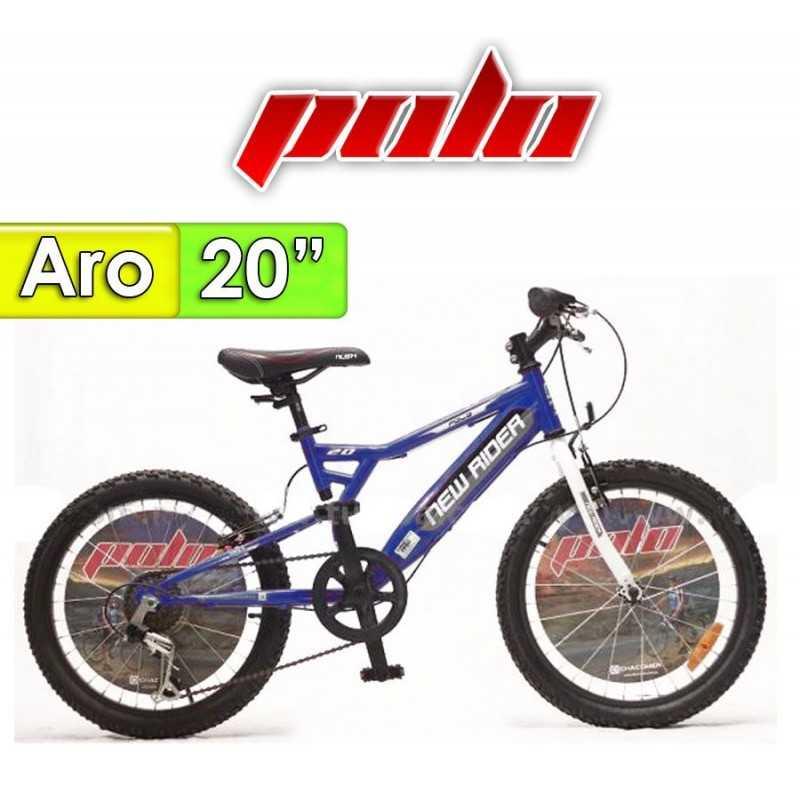 "Bici Aro 20"" New Ryder - Polo - Azul"