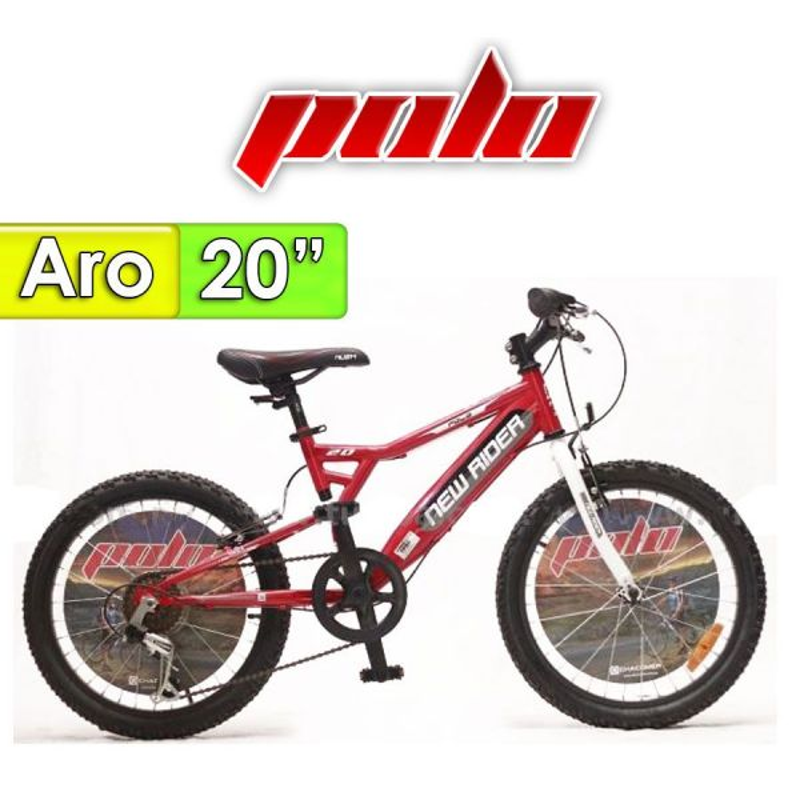 "Bici Aro 20"" New Ryder - Polo - Rojo"