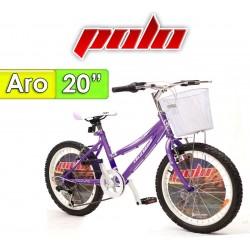 """Bici Aro 20"""" California - Polo - Lila"""