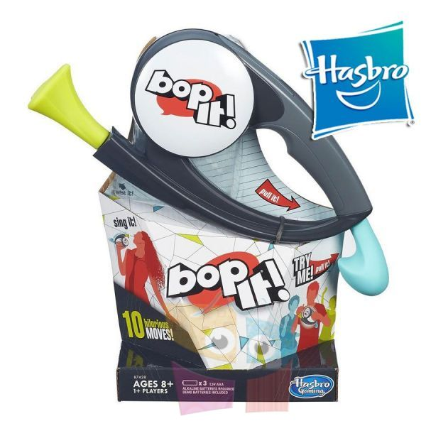 BOP IT! - Hasbro - ¡Gira! ¡Golpea! ¿Contesta? ¿Martilla?