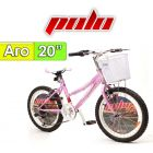 "Bici Aro 20"" California - Polo - Rosa"