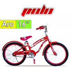 """Bici Aro 16"""" Spring - Polo - Rojo"""