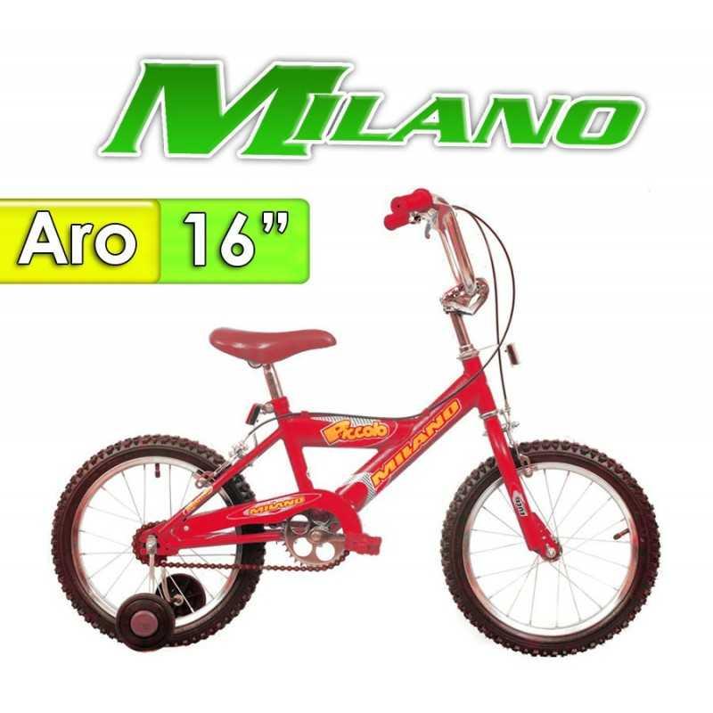 """Bici Aro 16"""" Piccolo16 - Milano - Rojo"""