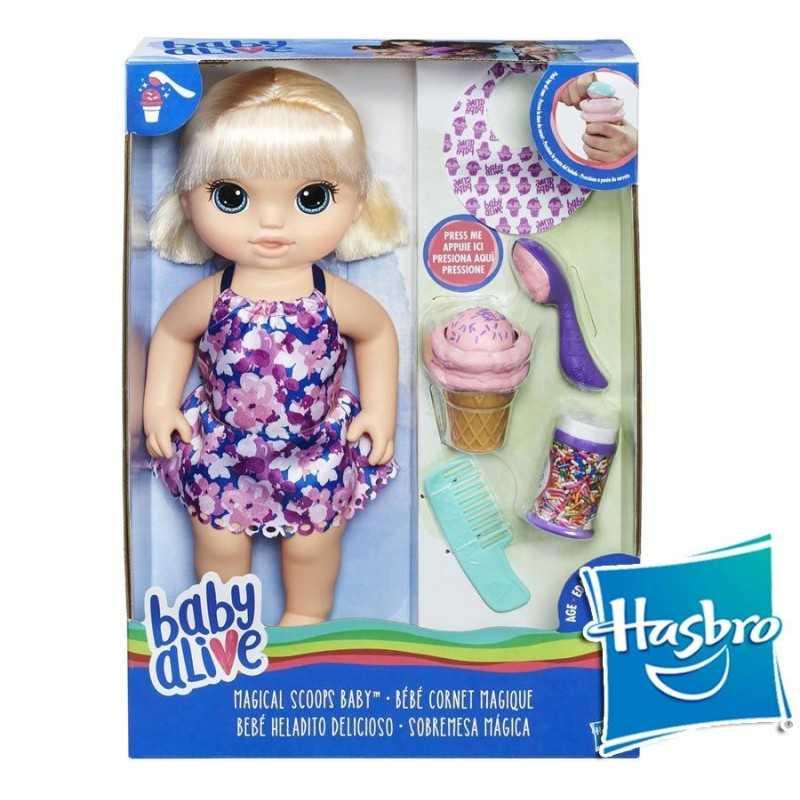 Baby Alive Bebé Heladito Delicioso - Hasbro - Rubia