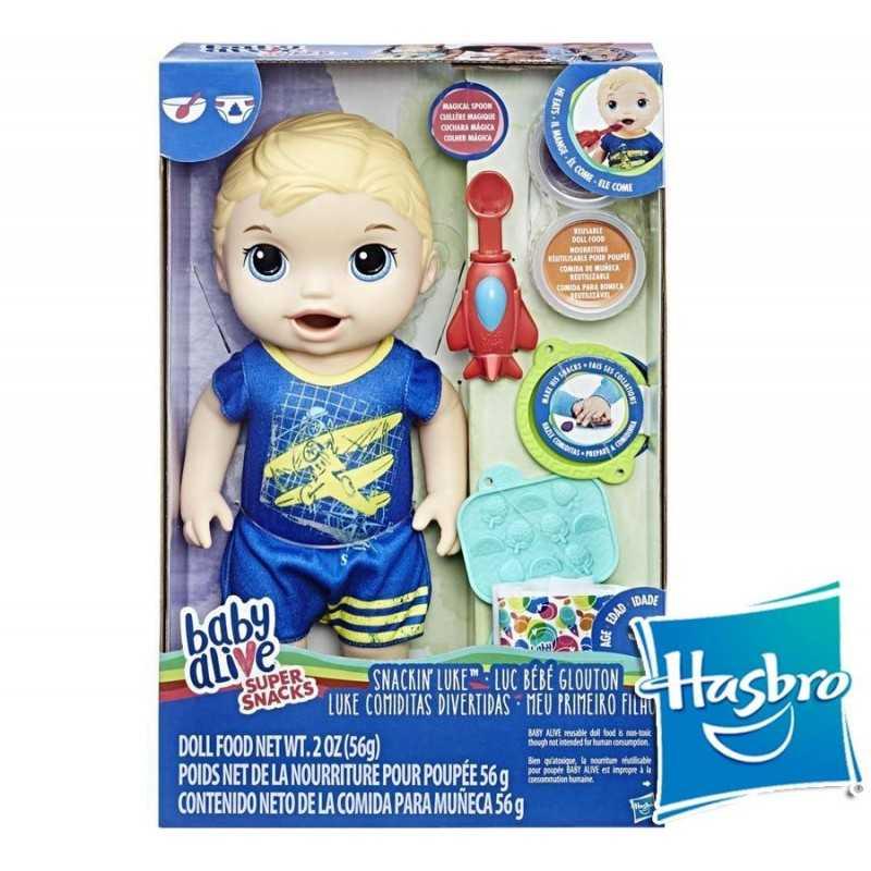 Baby Alive Comiditas Divertidas - Hasbro - Super Snacks Rubio