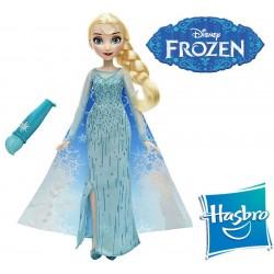Muñeca Muñeca Elsa con capa mágica Frozen - Hasbro