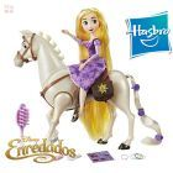 Muñeca Rapunzel y Caballo Maximus Disney - Hasbro