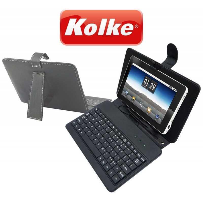 """Estuche de Cuero con Teclado para Tablet de 7"""" - Kolke - KTT-107"""