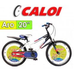 """Bici Aro 20"""" X-Cross - Caloi - Negro con azul"""