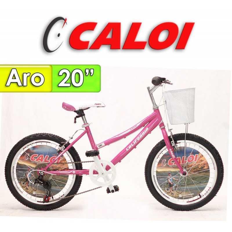 "Bici Aro 20"" California - Caloi - Fucsia"