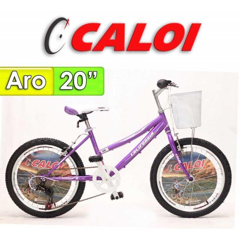 """Bici Aro 20"""" California - Caloi - Lila"""