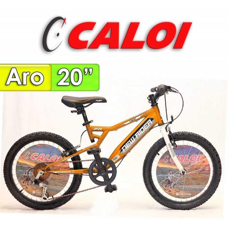 """Bici Aro 20"""" New Rider - Caloi - Naranja"""