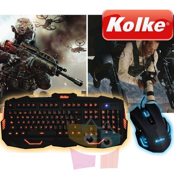 Kit Mouse y Teclado Gamer - Kolke - Power Pro KTMIG-531