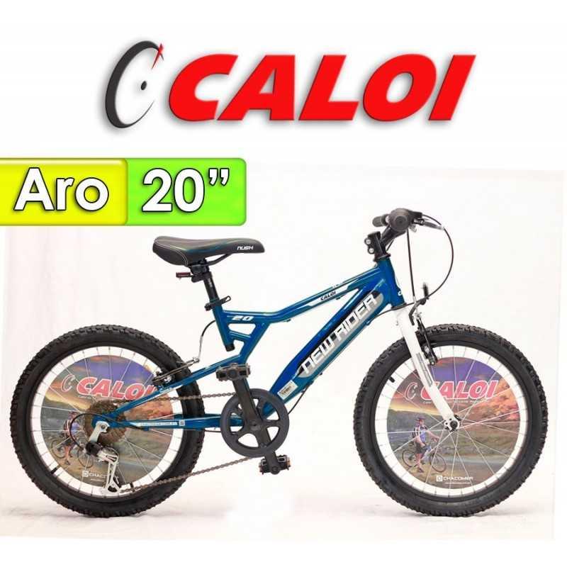 """Bici Aro 20"""" New Rider - Caloi - Azul"""