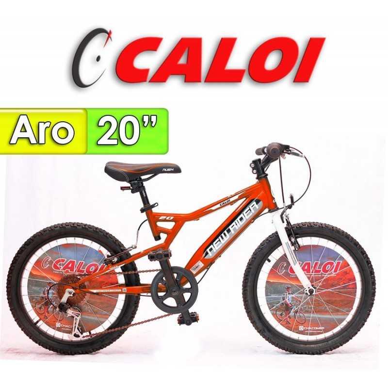 """Bici Aro 20"""" New Rider - Caloi - Rojo"""