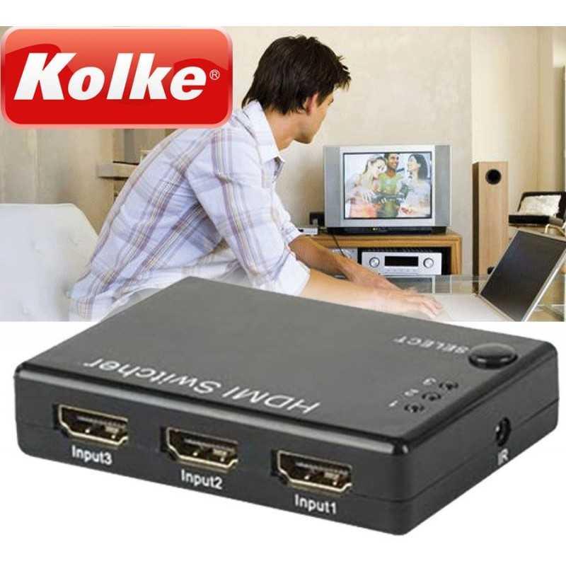 Swich HDMI 3 en 1 - Kolke - KSW-100