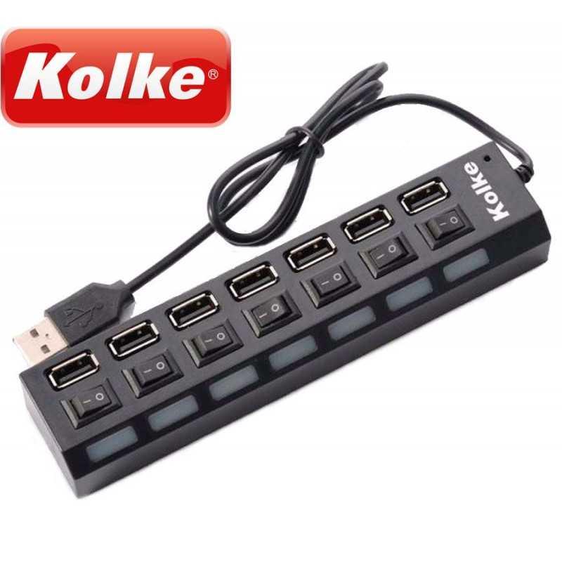 Multipicador USB de 7 bocas - Kolke - KAV-105