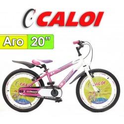 """Bici Aro 20"""" New Totica - Caloi - Fucsia"""