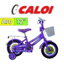 "Bici Aro 12"" Sofi - Caloi - Lila"