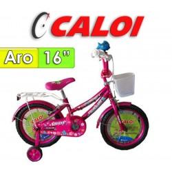 "Bici Aro 16"" Sofi - Caloi - Fucsia"