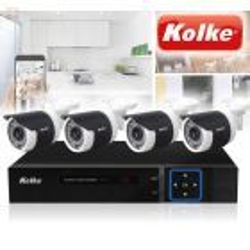 Kit de Camaras de Seguridad Resolución 1.0 MP HD 720P - Kolke - KUK-013